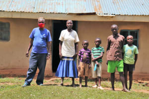 The Water Project: Buhayi Community, Nasichundukha Spring -  Joseph With His Family At Home