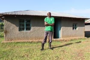 The Water Project: Mahira Community, Kusimba Spring -  Joshua Kusimba Outside His Home