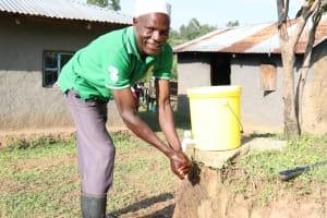 The Water Project: Mahira Community, Kusimba Spring -  Joshua Handwashing At Home