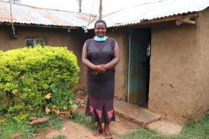 The Water Project: Shitaho Community B, Isaac Spring -  A Smiling Ms Rosemary Makanji