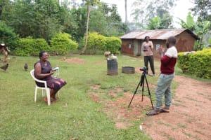 The Water Project: Shitaho Community B, Isaac Spring -  Camera Operator Allan Amadaro Talks With Rosemary