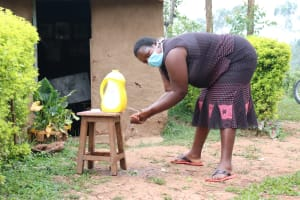 The Water Project: Shitaho Community B, Isaac Spring -  Rosemary Washing Her Hands