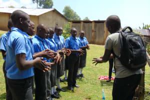 The Water Project: Malinda Secondary School -  Handwashing Demonstration