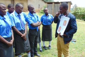 The Water Project: Malinda Secondary School -  Training On Dental Hygiene Using Dental Chart