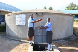 The Water Project: Malinda Secondary School -  Water Bringing Pupils Together