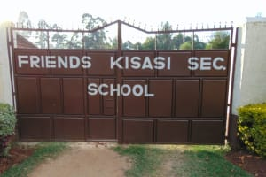 The Water Project: Friends Kisasi Secondary School -  School Gate
