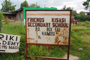 The Water Project: Friends Kisasi Secondary School -  School Signpost