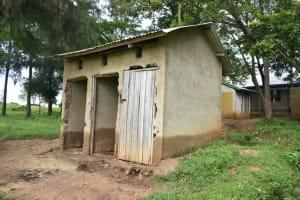 The Water Project: Isango Primary School -  Boys Latrine