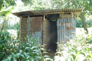 The Water Project: Emutetemo Community, Lubale Spring -  Bathing Shelter And Latrine