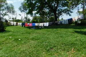 The Water Project: Emutetemo Community, Lubale Spring -  Clothesline