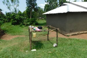 The Water Project: Emutetemo Community, Lubale Spring -  Dishrack