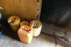 The Water Project: Emutetemo Community, Lubale Spring -  Water Storage Containers