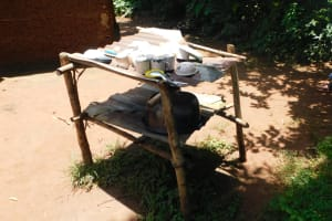 The Water Project: Mukhweso Community, Shemema Spring -  Dishrack