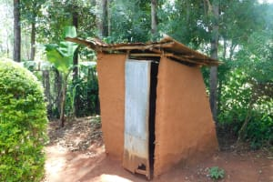 The Water Project: Mukhweso Community, Shemema Spring -  Latrine