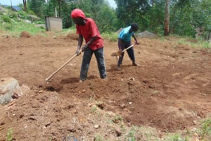The Water Project: Kapkoi Primary School -  Site Excavation