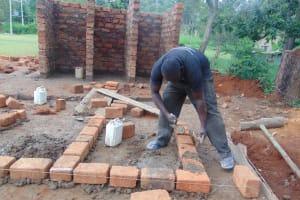 The Water Project: Kapkoi Primary School -  Latrine Foundation Setting