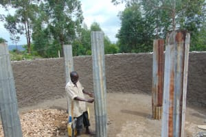 The Water Project: Kapkoi Primary School -  Adjusting A Pillar Mould