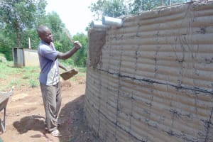 The Water Project: Kapkoi Primary School -  Tank Exterior Plastering