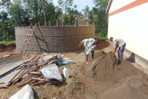 The Water Project: Kapkoi Primary School -  Tank Plaster Works