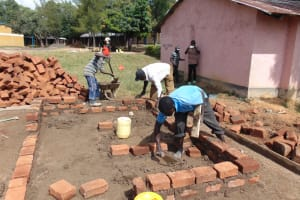 The Water Project: Boyani Primary School -  Setting Foundation For Latrines