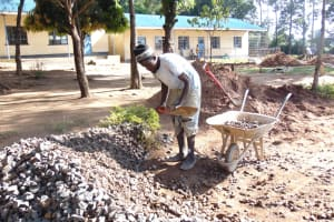 The Water Project: Boyani Primary School -  Mixing Concrete
