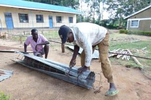 The Water Project: Boyani Primary School -  Preparing Pillar Form