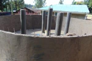 The Water Project: Boyani Primary School -  Plastering The Pillars