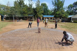 The Water Project: Boyani Primary School -  Setting Dome Wire