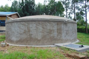 The Water Project: Boyani Primary School -  The Completed Water Point With Locked Access Point