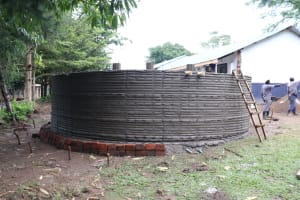 The Water Project: Friends School Shivanga Secondary -  Tank Ready For Exterior Plaster