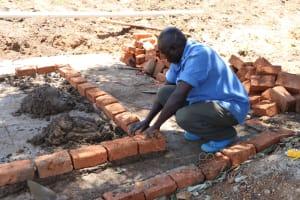 The Water Project: Friends School Shivanga Secondary -  Latrine Brickwork