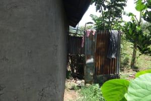 The Water Project: Mahira Community, Anunda Spring -  Bathing Room Shelter