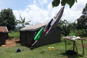 The Water Project: Mahira Community, Anunda Spring -  Clothesline Blowing In The Wind
