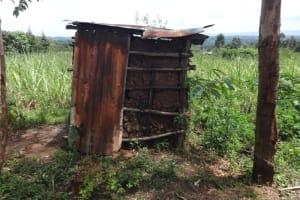 The Water Project: Mahira Community, Anunda Spring -  Latrine