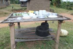 The Water Project: Nguvuli Community, Busuku Spring -  Dish Rack