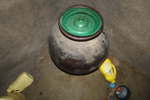 The Water Project: Nguvuli Community, Busuku Spring -  Drinking Water Storage
