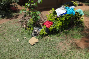 The Water Project: Shihome Community, Peter Majoni Spring -  Clothes Drying