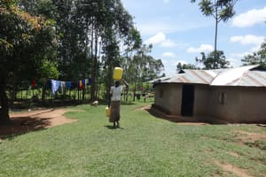 The Water Project: Shihome Community, Peter Majoni Spring -  Coming Home With Water