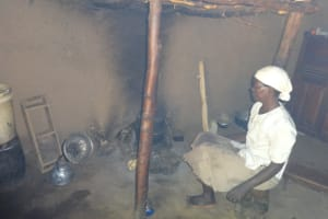 The Water Project: Shihome Community, Peter Majoni Spring -  Cooking Inside The Kitchen
