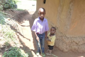 The Water Project: Shihome Community, Peter Majoni Spring -  Moses With His Little Brother Ake