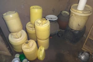 The Water Project: Shihome Community, Peter Majoni Spring -  Water Storage Containers