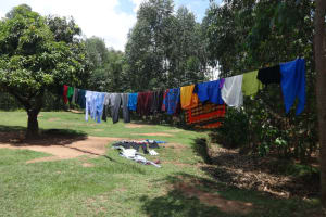 The Water Project: Shihome Community, Peter Majoni Spring -  Clotheesline