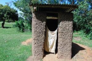 The Water Project: Indulusia Community, Yakobo Spring -  Latrine