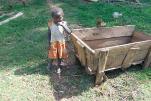 The Water Project: Indulusia Community, Yakobo Spring -  Child Next To Animal Feeding Trough