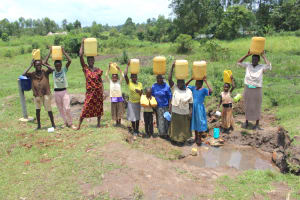 The Water Project: Makale Community, Luyingo Spring -  Community Members At The Spring
