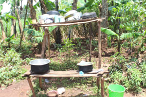 The Water Project: Makale Community, Luyingo Spring -  Dishrack