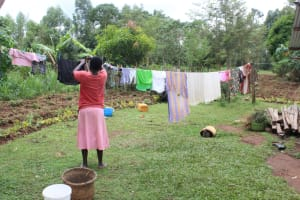 The Water Project: Makale Community, Luyingo Spring -  Hanging Clothes To Dry