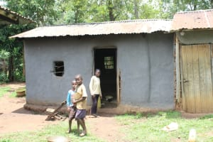 The Water Project: Makale Community, Luyingo Spring -  Kids Outside A Kitchen