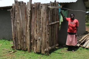 The Water Project: Makale Community, Luyingo Spring -  Showing Her Bathing Shelter