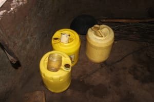 The Water Project: Makale Community, Luyingo Spring -  Water Storage Containers